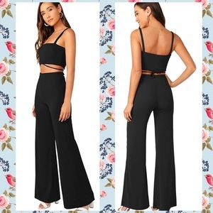 Sophisticated, Sexy 2-Piece Jumpsuit in Black